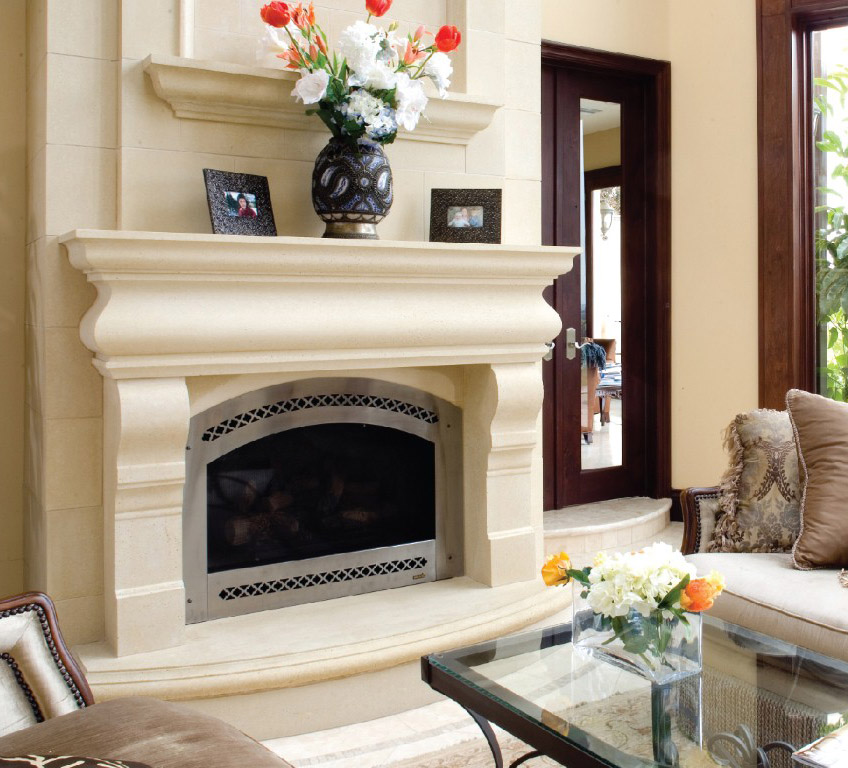 The Chateaux Collection - Elegant Fireplace Mantel - The Chateaux Collection