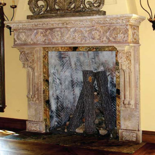 Antique and Reproduction - Elegant Fireplace Mantel - Antique And Reproduction